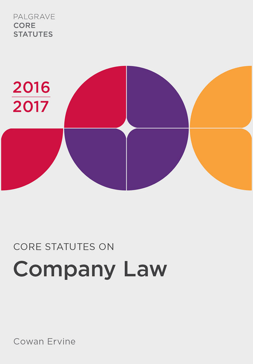 Core Statutes on Company Law 2016-17 first law 2 before they are hanged a