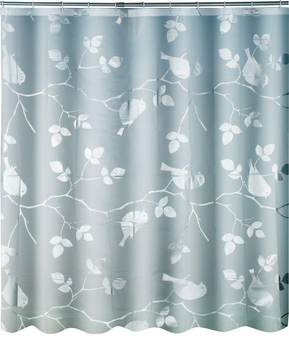 Штора для ванной Swensa Birds, цвет: серый, 180 х 180 смSWC-50-02Штора выполнена из материала ПЕВА и EVA (вспененный этиленвинилацетат) и оформленаоригинальным рисунком. Она надежно защитит от брызг и капель пространство вашей ваннойкомнаты в то время, пока вы принимаете душ. В верхней кромке шторы предусмотрены отверстиядля пластиковых колец, которые входят в комплект.