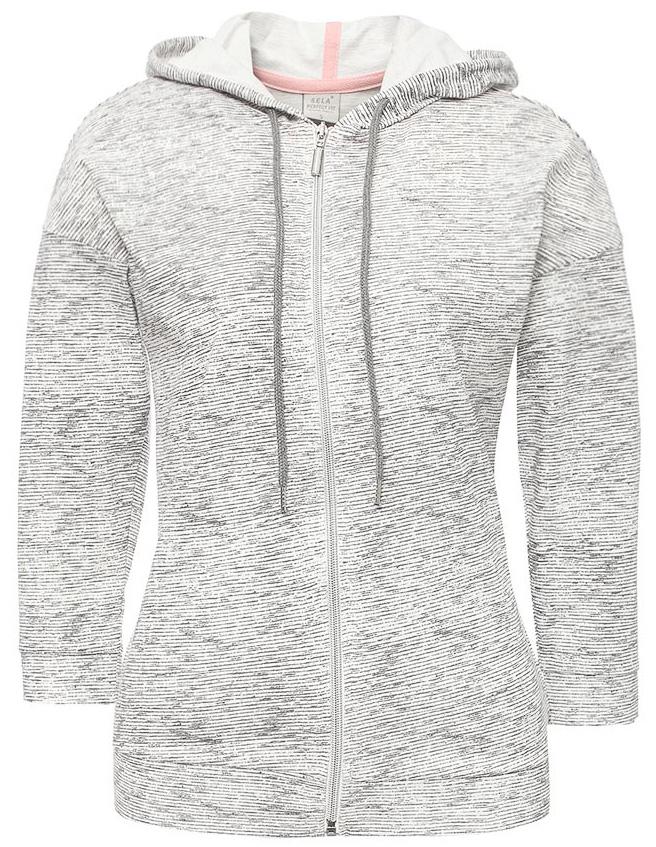 Толстовка женская Sela, цвет: серый меланж. Stc-113/1097-7182. Размер S (44)