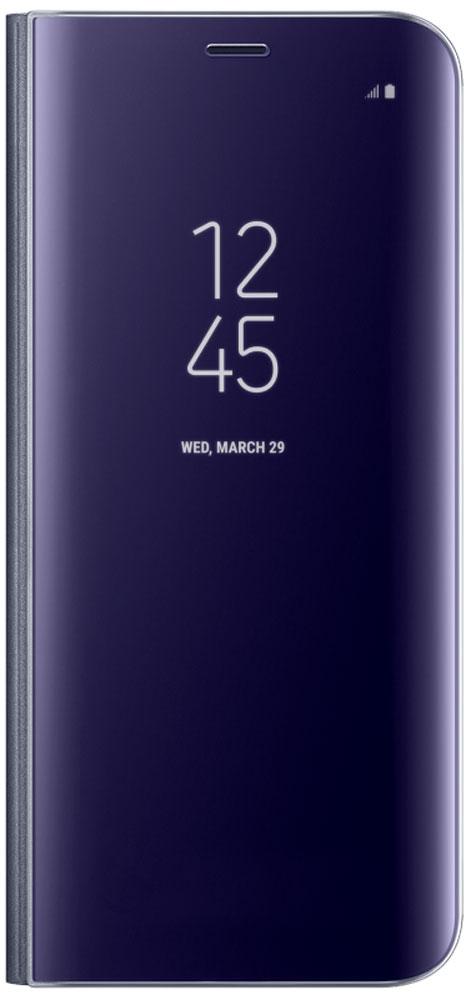 Samsung EF-ZG950C Clear View Standing чехол для Galaxy S8, VioletEF-ZG950CVEGRUТонкий полупрозрачный чехол Samsung Clear View Standing подчеркивает стиль и изящество смартфона Galaxy S8. Аксессуар обеспечивает быстрый доступ к функциям – следите за информацией на экране, не открывая чехла. Сквозь прозрачную верхнюю крышку видны время, пропущенные вызовы, индикатор заряда. Флип-кейс отзывчиво реагирует на прикосновения – отвечайте на звонки одним легким движением. Чехол устойчив к появлению отпечатков пальцев – ваш смартфон всегда в аккуратном состоянии. Особое покрытие чехла защищает смартфон от повреждений, продлевая срок его службы.