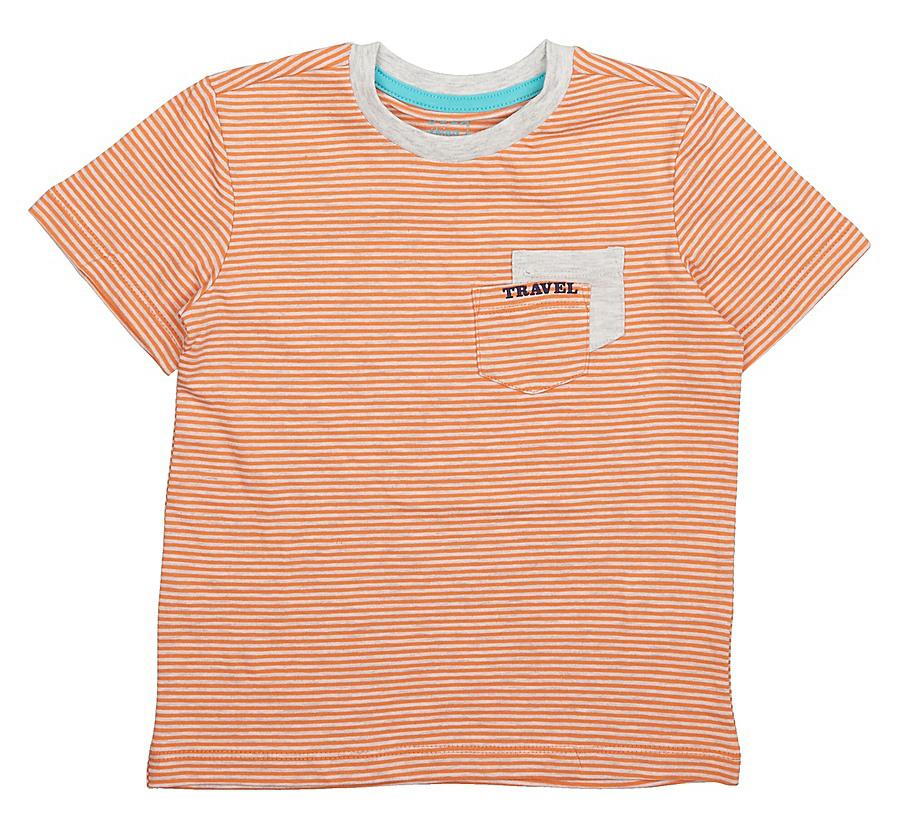 Футболка для мальчика Sela, цвет: персиковый. Ts-711/199-7213. Размер 116Ts-711/199-7213Модная футболка для мальчика Sela выполнена из натурального хлопка с принтом в полоску и дополнена двумя накладными кармашками на груди. Модель прямого кроя подойдет для прогулок и дружеских встреч и будет отлично сочетаться с джинсами и брюками. Воротник изделия дополнен мягкой трикотажной резинкой.Мягкая ткань комфортна и приятна на ощупь. Яркий цвет модели позволяет создавать стильные образы.