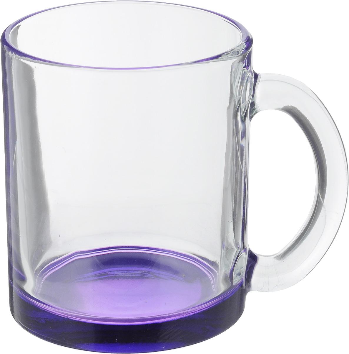 Кружка OSZ Чайная, цвет: прозрачный, фиолетовый, 320 мл04C1208LM_ прозрачный, фиолетовыйКружка OSZ Чайная изготовлена из стекла двух цветов. Изделие идеально подходит для сервировки стола.Кружка не только украсит ваш кухонный стол, но и подчеркнет прекрасный вкус хозяйки. Диаметр кружки (по верхнему краю): 8 см. Высота кружки: 9,5 см. Объем кружки: 320 мл.
