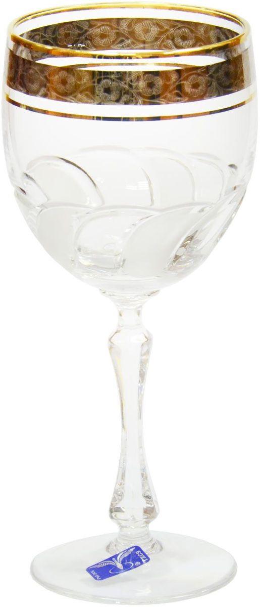 Набор фужеров для вина Гусь-Хрустальный Флорис, 280 мл, 6 шт. TD32-27831TD32-27831Набор Гусь-Хрустальный Флорис состоит из 6 фужеров на изящных длинных ножках, изготовленных из высококачественного натрий-кальций-силикатного стекла. Изделия предназначены для подачи холодных напитков, вина и многого другого. Фужеры оформлены красивым зеркальным покрытием с матовым орнаментом. Такой набор прекрасно дополнит праздничный стол и станет желанным подарком в любом доме. Разрешается мыть в посудомоечной машине.Высота фужера: 18 см. Объем: 280 мл.