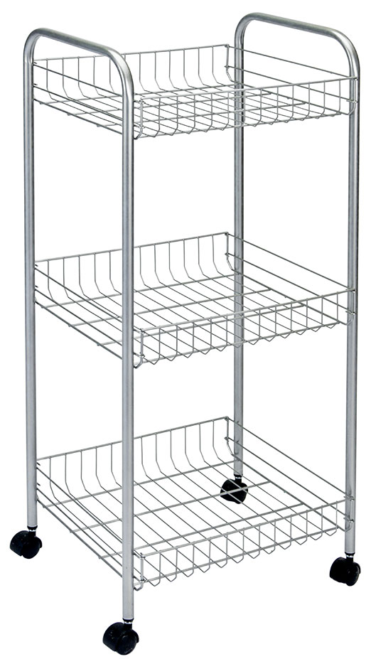Этажерка Montreal предназначена для использования в любых помещениях. Идеально подходит для использования на кухнях, ванных комнатах. Легко перемещается с помощью колесиков. Характеристики: Материал: сталь с поитермическим покрытием. Размер этажерки: 34 см х 34 см х 85 см. Размер полки: 31 см х 31 см х 7 см. Размер упаковки: 85 см х 31 см х 9 см.