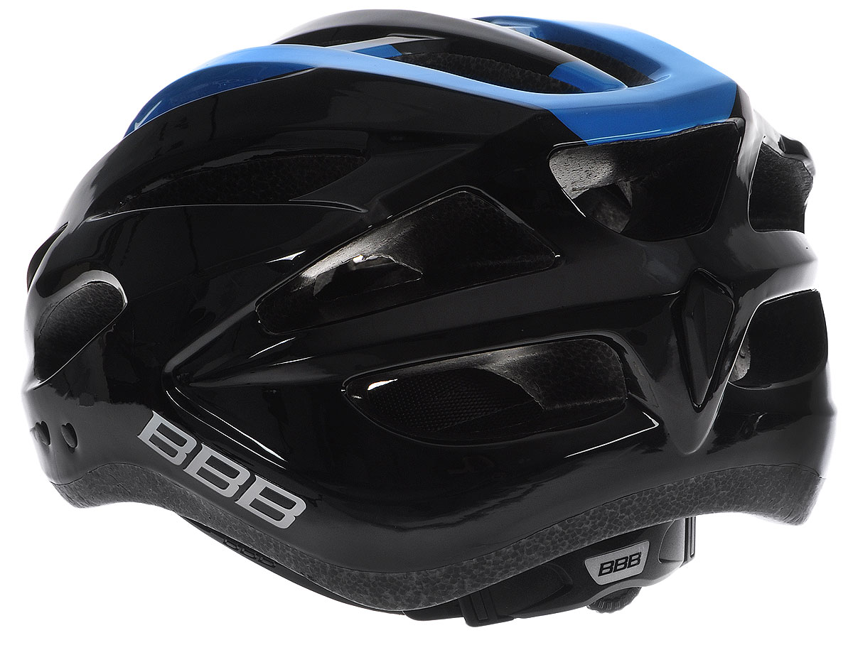 """Шлем BBB """"Condor"""", предназначенный для велосипедистов,   скейтбордистов и роллеров, снабжен настраиваемыми   ремешками для максимально комфортной посадки. Система   TwistClose - позволяет настроить шлем одной рукой.   Увеличенное количество вентиляционных отверстий   гарантирует отличную циркуляцию воздуха на разных   скоростях движения при сохранении жесткости, а отверстия   для вентиляции в задней части шлема предназначены для   оптимального распределения потока воздуха.  Шлем оснащен съемными мягкими накладками с   антибактериальными свойствами и съемным козырьком.   Внутренняя часть изделия изготовлена из пенополистирола.   Ее роль заключается в рассеивании энергии при ударе, а   интегрированная конструкция защищает голову при ударе.   Фронтальные отверстия изделия прикрыты мелкой сеткой   для защиты от насекомых. Верхняя часть шлема,   выполненная из прочного пластика, препятствует   разрушению изделия, защищает шлем от прокола и   позволять ему скользить при ударах. Способность шлема скользить по поверхности является   важной его характеристикой, так как при падении движение   уменьшается не сразу, а постепенно, снижая тем самым   нагрузку на голову и шею.  Надежный шлем с ярким дизайном имеет светоотражающие   наклейки на задней части изделия. Такой шлем обеспечит   высокую степень защиты, а 18 вентиляционных отверстий   сделают катание максимально комфортным.  Размер: М. Обхват головы: 54-58 см.      Гид по велоаксессуарам. Статья OZON Гид"""