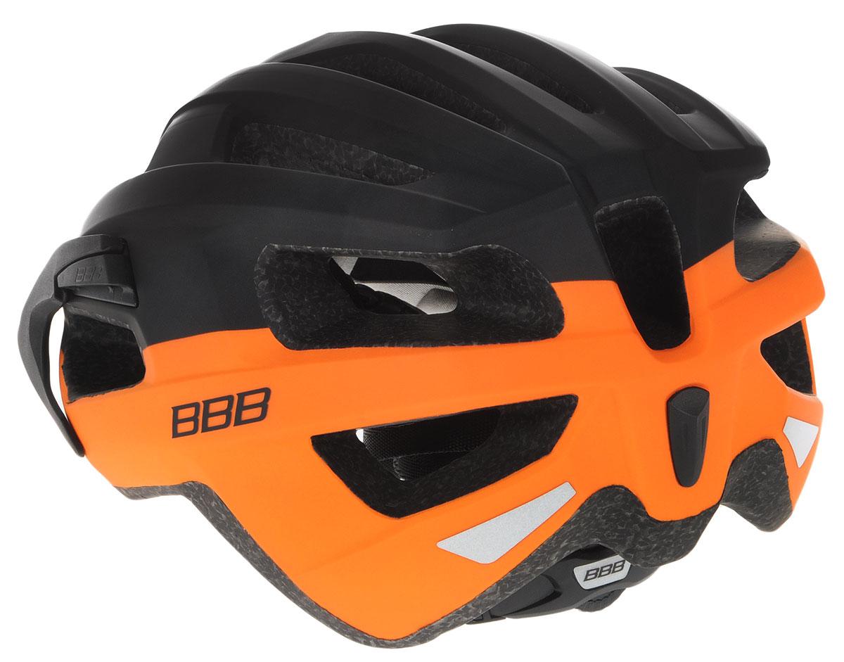 """Шлем BBB """"Kite"""", предназначенный для велосипедистов,   скейтбордистов и роллеров, снабжен настраиваемыми   ремешками для максимально комфортной посадки. Система   TwistClose - позволяет настроить шлем одной рукой.   Увеличенное количество вентиляционных отверстий   гарантирует отличную циркуляцию воздуха на разных   скоростях движения при сохранении жесткости, а отверстия   для вентиляции в задней части шлема предназначены для   оптимального распределения потока воздуха.  Шлем оснащен съемными мягкими накладками с   антибактериальными свойствами и съемным козырьком.   Внутренняя часть изделия изготовлена из пенополистирола.   Ее роль заключается в рассеивании энергии при ударе, а   низкопрофильная конструкция обеспечивает   дополнительную защиту наиболее уязвимых участков головы.   Фронтальные отверстия изделия прикрыты мелкой сеткой   для защиты от насекомых. Верхняя часть шлема,   выполненная из прочного пластика, препятствует   разрушению изделия, защищает его от прокола и   позволять ему скользить при ударах. Шлем имеет светоотражающие наклейки и 14   вентиляционных отверстий, которые делают катание   максимально комфортным.  Размер: M. Обхват головы: 55-58 см.      Гид по велоаксессуарам. Статья OZON Гид"""