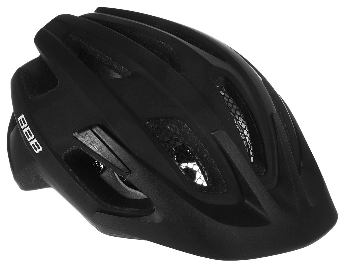 Шлем летний BBB Kite, со съемным козырьком, цвет: черный. Размер M