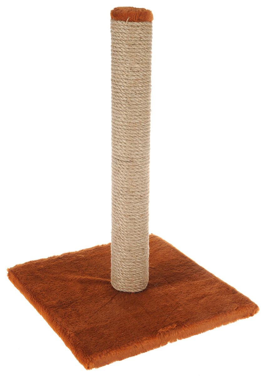 Когтеточка Adel-Pet Столбик, с пропиткой, цвет: коричневый, 31 х 31 х 54 см pet parade кошки купить