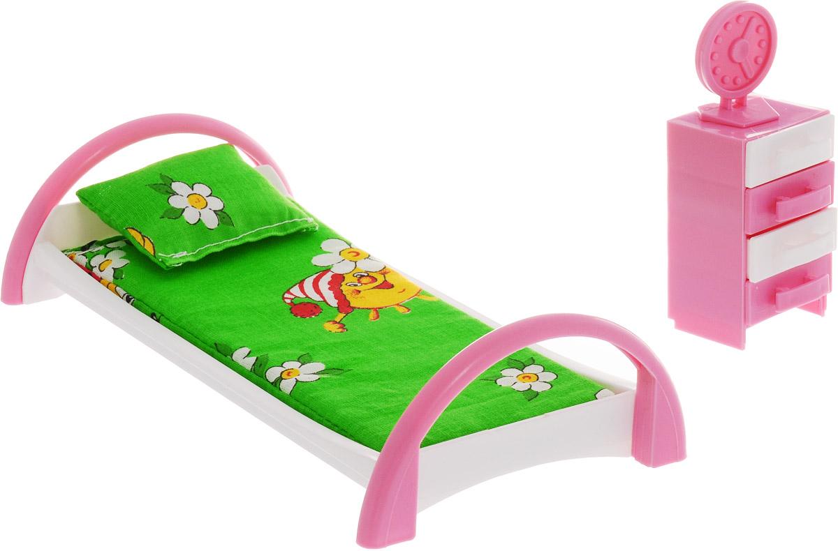 Форма Набор мебели для кукол Кровать с тумбочкой Солнце цвет зеленый как паралон для мебели в уфе