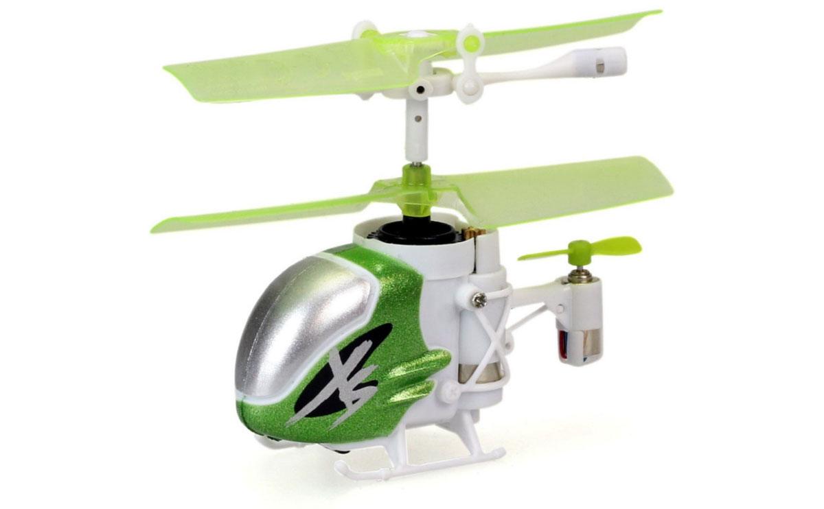 Silverlit Вертолет на инфракрасном управлении Nano Falcon XS цвет зеленый белый самолеты и вертолеты silverlit вертолет 3 х канальный heli sniper 2 со стрелами зеленый