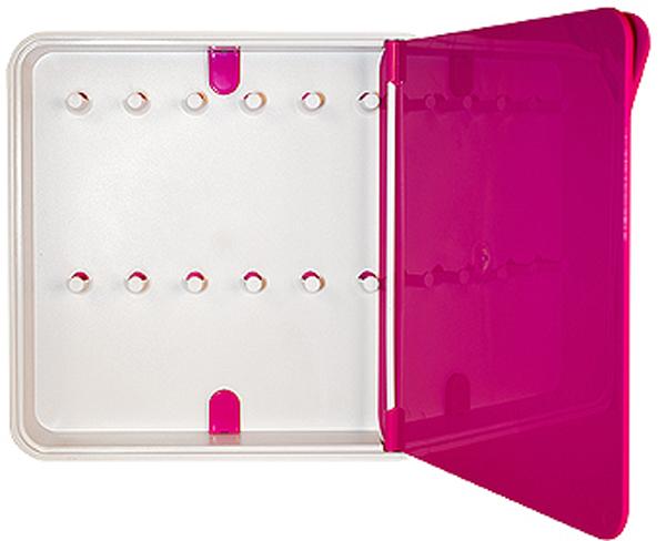 Ключница настенная Byline, цвет: розовый. 108.3201.07108.3201.07Настенные ключницы - созданы как удобные органайзеры для хранения и контроля за комплектами ключей. Больше не надо думать, куда положить ключи от квартиры или дома, машины, почтового ящика, кладовки.