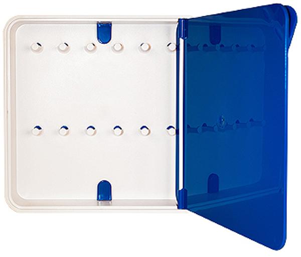 Ключница настенная Byline, цвет: синий. 108.3201.04108.3201.04Настенная ключница Byline создана как удобный органайзер для хранения и контроля за комплектами ключей. Больше не надо думать, куда положить ключи от квартиры или дома, машины, почтового ящика, кладовки.