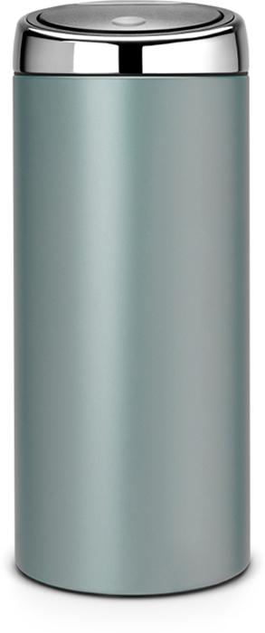 Бак мусорный Brabantia Touch Bin, цвет: мятный металлик, 30 л. 484285484285Стильный Touch Bin на 30 литров - непременный атрибут каждой гостиной или кухни. Порадуйте себя и удивите гостей! Бесшумное открывание / закрывание крышки легким касанием - система «soft touch». Удобная смена мешков для мусора - съемный блок крышки из нержавеющей стали. Удобная очистка - съемное внутреннее ведро из пластика с вентиляционными отверстиями, предотвращающими образование вакуума при вынимании полного мусорного мешка. Легкое перемещение с места на место - прочная ручка для переноски. Предохранение пола от повреждений - пластиковый защитный обод. Бак изготовлен из коррозионностойких материалов - долговечность и удобство в очистке. Всегда опрятный вид - идеально подходящие по размеру мешки для мусора со стягивающей лентой (размер G). 10-летняя гарантия Brabantia