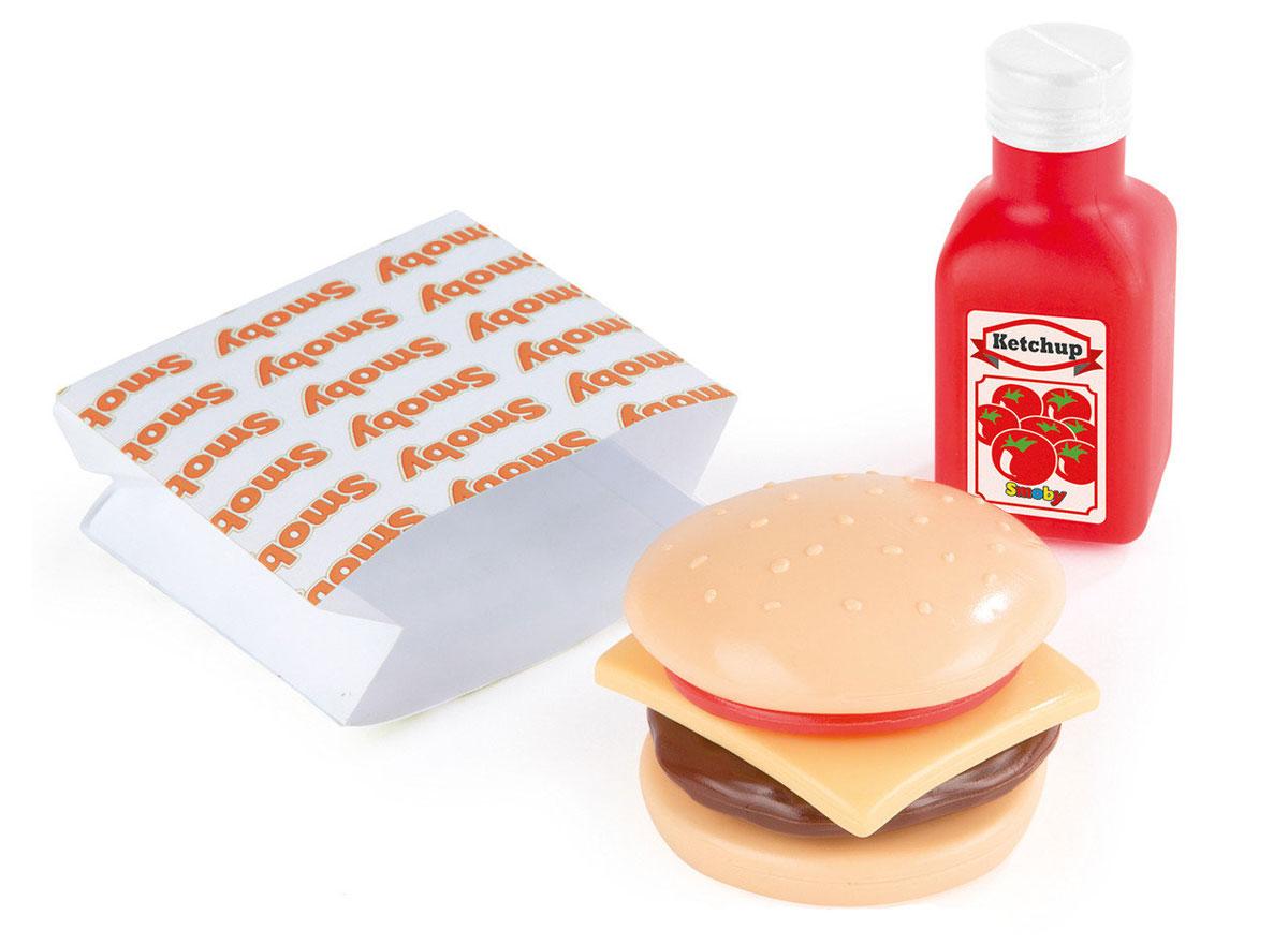 Smoby Игрушечный набор Мини-бургер утюг игрушечный smoby smoby утюг свет звук