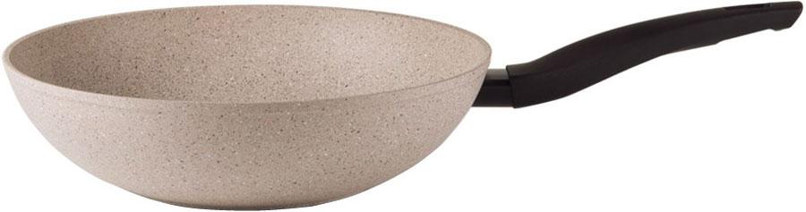 Сковорода-вок TVS Gea Induction, с антипригарным покрытием, цвет: бежевый. Диаметр 28 см сковорода вок tvs bs793283210301 gea induction 28см