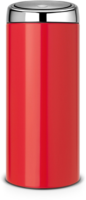 Бак мусорный Brabantia Touch Bin, цвет: красный, 30 л. 483844483844Стильный Touch Bin на 30 литров - непременный атрибут каждой гостиной или кухни. Порадуйте себя и удивите гостей!Бесшумное открывание / закрывание крышки легким касанием - система «soft touch».Удобная смена мешков для мусора - съемный блок крышки из нержавеющей стали.Удобная очистка - съемное внутреннее ведро из пластика с вентиляционными отверстиями, предотвращающими образование вакуума при вынимании полного мусорного мешка.Легкое перемещение с места на место - прочная ручка для переноски.Предохранение пола от повреждений - пластиковый защитный обод.Бак изготовлен из коррозионностойких материалов - долговечность и удобство в очистке.Всегда опрятный вид - идеально подходящие по размеру мешки для мусора со стягивающей лентой (размер G).10-летняя гарантия Brabantia.