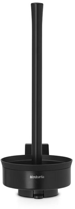 Держатель для туалетной бумаги Brabantia Profile, цвет: черный. 483462483462Держатель для туалетной бумаги Brabantia 483462 крепится к стене с помощью прилагаемого кронштейна, благодаря чему не занимает место на полу и облегчает уборку в ванной комнате.Легко вынимается из настенного крепления для тщательной очистки стене позади держателя.Также может быть использован без кронштейна - на полу ванной комнаты.Нескользящее основание предотвращает скольжение по плитке.Простая и быстрая замена рулонов туалетной бумаги.Вмещает до трех рулонов туалетной бумаги.Держатель изготовлен из коррозионностойких материалов.Инструкция и фурнитура для монтажа в комплекте. Сочетается с другими аксессуарами Brabantia для ванной комнаты: настенным или напольным мусорными баками, туалетным ершиком, мыльницей, держателем для стаканов, полочкой для ванной комнаты, крючками и держателями для полотенца. Гарантия 10 лет.