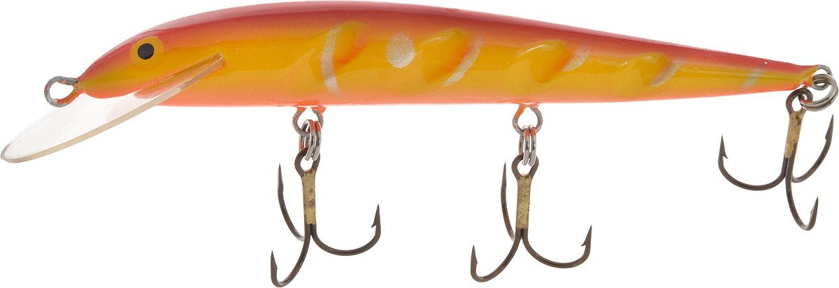 Воблер Blind Paroni, цвет: красный, желтый, длина 13 см, вес 17 гPAR-13011Воблер Blind Paroni применяется для ловли хищных видов рыб. Воблер изготовлен из качественного пластика и отличается яркой расцветкой. Три тройника не дадут ускользнуть самой верткой рыбе. Какая приманка для спиннинга лучше. Статья OZON Гид