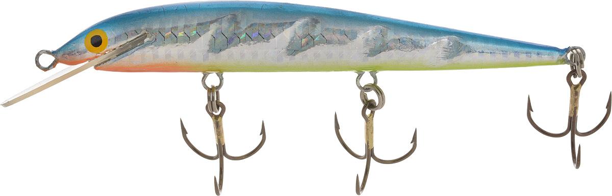 Воблер Blind Paroni, цвет: серебристый, голубой, салатовый, длина 13 см, вес 17 г