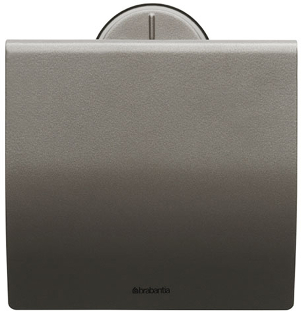 Держатель для туалетной бумаги Brabantia Profile, цвет: платиновый. 483363483363Устойчивость к коррозии – идеальное решение для ванной или туалетной комнаты. Держатель для рулона может крепиться как с правой, так и с левой стороны. Изготовлен из высококачественной нержавеющей стали с коррозионностойким покрытием или из хромированной стали. Крепежная пластина из пластика. Превосходно сочетается с туалетным ершиком, мусорными баками и другими изделиями Brabantia.