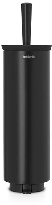Ершик туалетный Brabantia Profile, с держателем, цвет: черный. 483349483349Устойчивость к коррозии – идеальное решение для ванной или туалетной комнаты. Подходит для крепления к стене – экономия места. Кронштейн в комплекте. Можно использовать на полу – нескользящее основание. Ершик эстетично спрятан под крышкой – всегда опрятный вид. Легко снимается с настенного кронштейна для тщательной очистки поверхности стены. Благодаря наличию съемного внутреннего стакана изделие гигиенично и удобно в очистке. Идеальная чистота даже под ободом унитаза – специальной форме ершика.