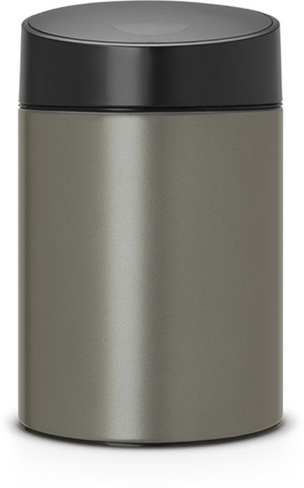 Бак мусорный Brabantia Slide Bin, цвет: платиновый, 5 л. 483141483141Легко открывается движением одной руки, закрывается бесшумно и автоматически - уникальная система открывания / закрывания. Без соприкосновения с содержимым бака - крышка плавно поднимается и опускается. Настенное или напольное использование - в комплекте простой в установке опорный кронштейн. Бак снимается с настенного кронштейна для тщательной очистки стены. Удобная очистка - съемное пластиковое ведро. Предохранение пола от повреждений - пластиковый защитный обод. Всегда опрятный вид - идеально подходящие по размеру мешки PerfectFit (размер B).