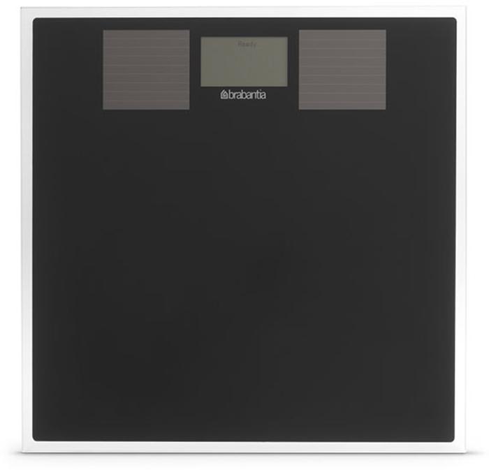 Напольные весы Brabantia, для ванной комнаты, на солнечных батареях. 483103483103Весы оснащены двумя солнечными батареями, что позволяет пользоваться весами как при естественном, так и при искусственном освещении. Идеально подходят для тех, кто следит за своим весом и обеспокоен состоянием окружающей среды. высокая точность сочетается с элегантным современным дизайном.Большой удобный дисплей.Устойчивое противоскользящее основание.Весы оснащены удобной рукояткой.Максимальная нагрузка - до 160 кг.Материал: металл, стекло, пластик.Точность измерения - 0,1 кг. Гарантия 5 лет.