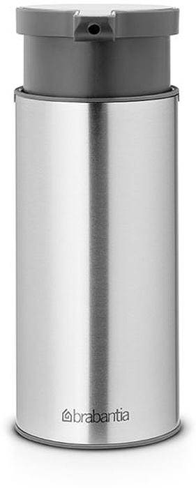Диспенсер для жидкого мыла Brabantia, цвет: стальной матовый. 481208481208Идеальное решение для помещений с повышенной влажностью - выполнен из коррозионностойких материалов. Удобное наполнение сверху - широкое отверстие для заправки. Может использоваться для шампуней, лосьонов и т.п. Перед заправкой дозатора заполните емкость горячей водой и проведите очистку насосного механизма, несколько раз «прокачав» дозатор. Легко разбирается для проведения тщательной очистки. Широкое основание с противоскользящими свойствами обеспечивает отличную устойчивость.