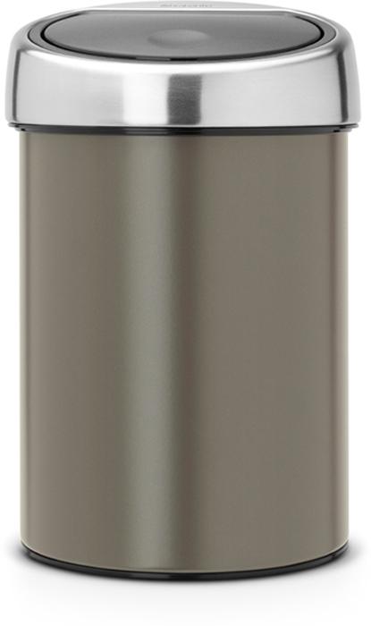Бак мусорный Brabantia Touch Bin, цвет: платиновый, 3 л. 364464 brabantia мусорный бак touch bin 30 л