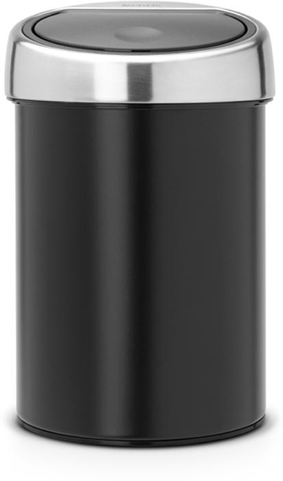 Бак мусорный Brabantia Touch Bin, цвет: черный, 3 л. 364440 brabantia мусорный бак touch bin 30 л