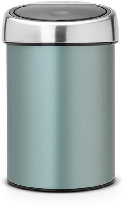 Бак мусорный Brabantia Touch Bin, цвет: мятный металлик, 3 л. 364402364402Бесшумное открывание / закрывание крышки легким касанием - система Soft Touch. Удобная смена мешков для мусора - съёмная крышка из нержавеющей стали. Предусмотрено крепление к стене - бак поставляется в комплекте с настенным кронштейном из нержавеющей стали. Легко снимается с настенного кронштейна для тщательной очистки. Удобная очистка - прочное съемное внутреннее ведро из пластика. Предохранение пола от повреждений - пластиковый защитный обод. Бак изготовлен из коррозионностойких материалов - долговечность и удобство в очистке. Всегда опрятный вид - в комплекте идеально подходящие по размеру мешки для мусора PerfectFit (размер A).