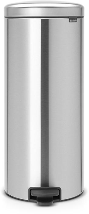 Бак мусорный Brabantia NewIcon, с педалью, с внутренним металлическим ведром, цвет: стальной матовый, 30 л. 114786114786Этот высокий вместительный бак на 30 литров с педалью - превосходное решение для большой семьи.Бесшумный - плавное закрывание крышки и необыкновенно мягкий ход педали. Не пропускает запах - плотно прилегающая крышка. Устойчивый - специальное устройство, предотвращающее опрокидывание бака. Не повреждает пол - нескользящее основание. Удобная очистка - съемное внутреннее металлическое ведро. Бак удобно перемещать - специальная ручка в блоке крепления крышки. Всегда опрятный вид - в комплекте идеально подходящие по размеру мешки для мусора PerfectFit (размер G). Изготовлен на 40% из переработанных материалов, подлежит вторичной переработке вместе с упаковкой на 98%. Сертификат соответствия концепции регенерации Cradle to Cradle.