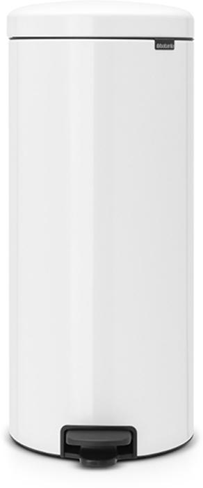 Бак мусорный Brabantia NewIcon, с педалью, с внутренним металлическим ведром, цвет: белый, 30 л. 114748114748Этот высокий вместительный бак на 30 литров с педалью - превосходное решение для большой семьи.Бесшумный - плавное закрывание крышки и необыкновенно мягкий ход педали. Не пропускает запах - плотно прилегающая крышка. Устойчивый - специальное устройство, предотвращающее опрокидывание бака. Не повреждает пол - нескользящее основание. Удобная очистка - съемное внутреннее металлическое ведро. Бак удобно перемещать - специальная ручка в блоке крепления крышки. Всегда опрятный вид - в комплекте идеально подходящие по размеру мешки для мусора PerfectFit (размер G). Изготовлен на 40% из переработанных материалов, подлежит вторичной переработке вместе с упаковкой на 98%. Сертификат соответствия концепции регенерации Cradle to Cradle.