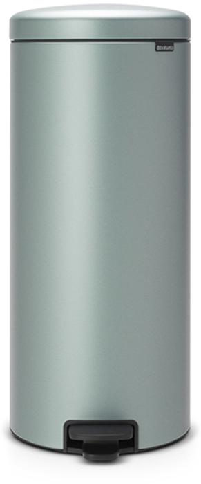 Бак мусорный Brabantia NewIcon, с педалью, цвет: мятный металлик, 30 л. 114564 brabantia мусорный бак с педалью newicon 30 л 67 5х30х34 см серый металлик