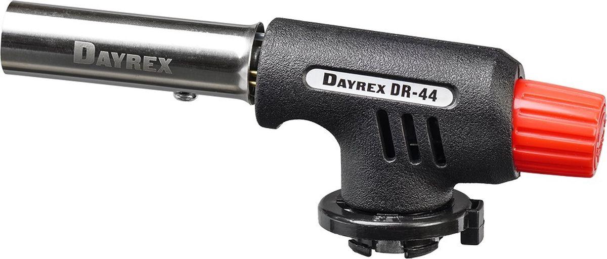 Горелка газовая FOCUSray Dayrex-44 1/10/80DAYREX-44Универсальная газовая горелка. Электронное воспламенение.Температура открытого пламени — 1300°С.Длина открытого пламени — 150 мм. Расход газа - 1,06 г./мин.
