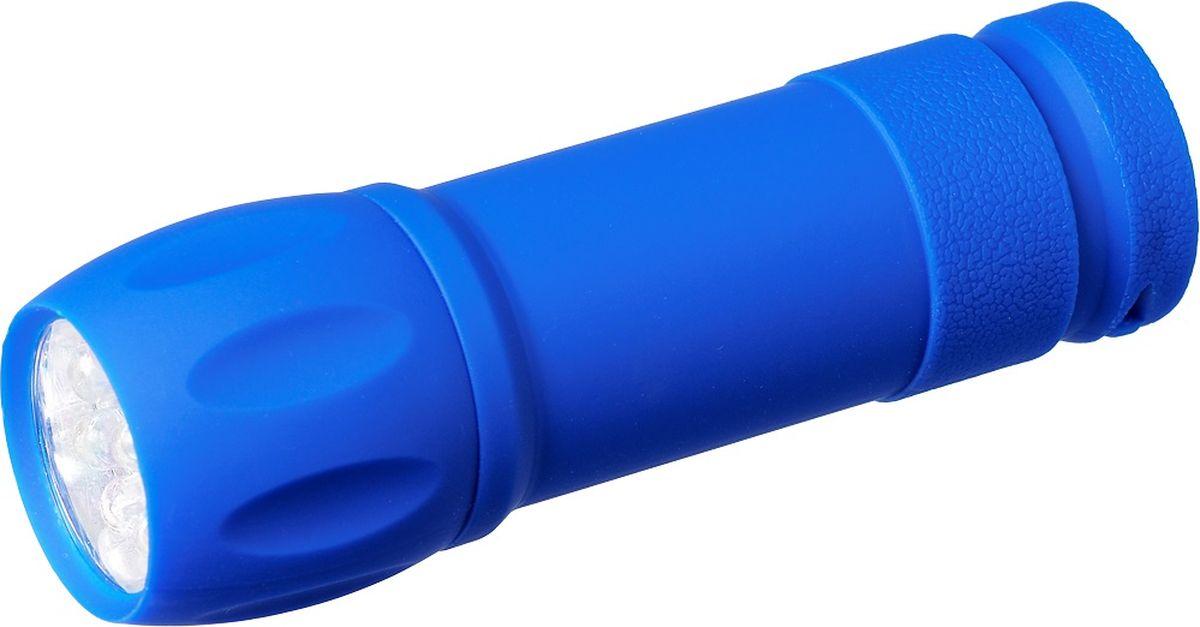 Фонарь ручной FOCUSray, цвет: синий. FR-1005FR-1005Корпус ручного фонаря FOCUSray выполнен из транспарентной резины. Фонарь имеет 9 светодиодов. Он влагонепроницаем и ударопрочен. Размер: 30,5 х 9,8 см.Дальность свечения: до 35 м.Источник питания: 3 х ААА (в комплект не входят).