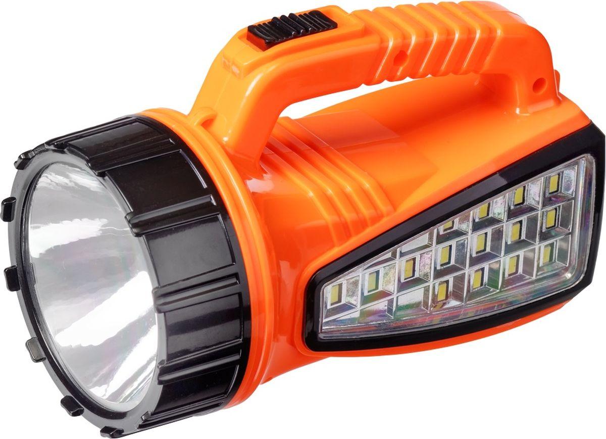 Фонарь ручной FOCUSray, цвет: оранжевый. FR-1230FR-1230Корпус ручного фонаря FOCUSray выполнен из прочного пластика. Фонарь имеет 16 (15+1) светодиодов мощностью 1 Вт. Зарядка от сети 220 В + авто 12В.Размер: 16,5 х 8,5 х 10 см.Дальность свечения: до 200 м.Источник питания: свинцово-кислотный аккумулятор 4В 0,8 а/ч.Время работы: до 240 минут.