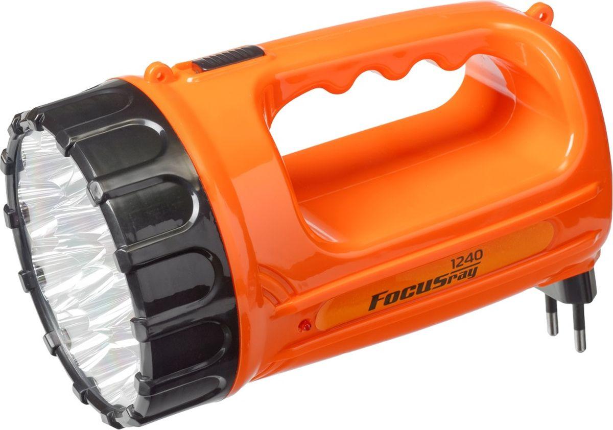 Фонарь ручной FOCUSray. FR-1240FR-1240Корпус ручного фонаря FOCUSray выполнен из прочного пластика. Фонарь имеет 15 светодиодов мощностью 1 Вт. Оснащен встроенной зарядкой от сети 220 В.Размер: 18 х 10,5 х 11 см.Дальность свечения: до 200 м.Источник питания: свинцово-кислотный аккумулятор 4В 1 а/ч.Время работы: до 240 минут.