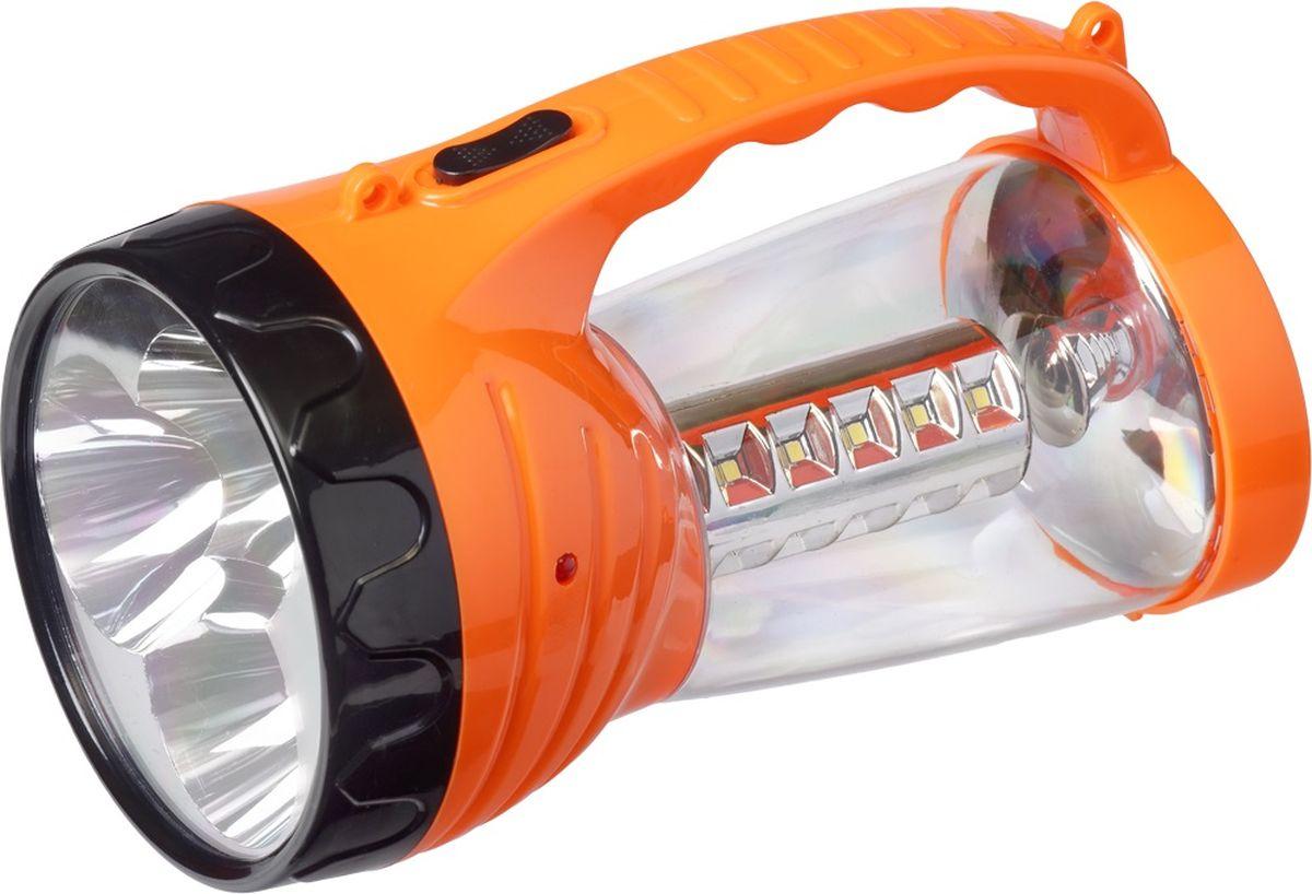 Фонарь ручной FOCUSray, цвет: оранжевый. FR-1260FR-1260Корпус ручного фонаря FOCUSray выполнен из прочного пластика. Фонарь имеет 27 (24+3) светодиодов. Зарядка от сети 220 В.Фонарь имеет складной крючок для подвешивания.Размер: 19 х 10,5 х 11 см.Дальность свечения: до 200 м.Источник питания: 2 свинцово-кислотных аккумулятора 2 х 4В 0,8 а/ч.Время работы: до 180 минут.