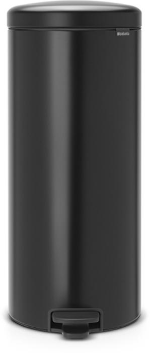 Бак мусорный Brabantia NewIcon, с педалью, цвет: черный, 30 л. 114540114540Этот высокий вместительный бак на 30 литров с педалью - превосходное решение для большой семьи. Бесшумный - плавное закрывание крышки и необыкновенно мягкий ход педали. Не пропускает запах - плотно прилегающая крышка. Устойчивый - специальное устройство, предотвращающее опрокидывание бака. Не повреждает пол - нескользящее основание. Удобная очистка - съемное внутреннее пластиковое ведро. Бак удобно перемещать - специальная ручка в блоке крепления крышки. Всегда опрятный вид - в комплекте идеально подходящие по размеру мешки для мусора PerfectFit (размер G). Изготовлен на 40% из переработанных материалов, подлежит вторичной переработке вместе с упаковкой на 98%. Сертификат соответствия концепции регенерации Cradle to Cradle.
