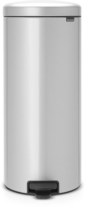Бак мусорный Brabantia NewIcon, с педалью, цвет: серый металлик, 30 л. 114465114465Этот высокий вместительный бак на 30 литров с педалью - превосходное решение для большой семьи. Бесшумный - плавное закрывание крышки и необыкновенно мягкий ход педали. Не пропускает запах - плотно прилегающая крышка. Устойчивый - специальное устройство, предотвращающее опрокидывание бака. Не повреждает пол - нескользящее основание. Удобная очистка - съемное внутреннее пластиковое ведро. Бак удобно перемещать - специальная ручка в блоке крепления крышки. Всегда опрятный вид - в комплекте идеально подходящие по размеру мешки для мусора PerfectFit (размер G). Изготовлен на 40% из переработанных материалов, подлежит вторичной переработке вместе с упаковкой на 98%. Сертификат соответствия концепции регенерации Cradle to Cradle.