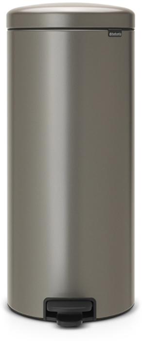 Бак мусорный Brabantia NewIcon, с педалью, цвет: платиновый, 30 л. 114441114441Этот высокий вместительный бак с педалью на 30 литров – превосходное решение для большой семьи. Бесшумный – плавное закрывание крышки и необыкновенно мягкий ход педали.Не пропускает запах – плотно прилегающая крышка.Устойчивый – специальное устройство, предотвращающее опрокидывание бака.Не повреждает пол – нескользящее основание.Удобная очистка –съемное внутреннее пластиковое ведро.Бак удобно перемещать – специальная ручка в блоке крепления крышки.Всегда опрятный вид – в комплекте идеально подходящие по размеру мешки для мусора PerfectFit (размер D). Сертификат соответствия концепции регенерации Cradle to Cradle.Изготовлен на 40% из переработанных материалов, подлежит вторичной переработке вместе с упаковкойна 98%. 10 лет гарантии и сервисное обслуживание.Brabantia c заботой о вашем доме и планете. Добрые дела сегодня – залог счастливого завтра. Мусорные баки с педалью newIcon не только безупречно красивы, они еще и надежные работники! Покупая этот бак, вы вносите вклад в крупнейший проект по очистке мирового океана от пластикового мусора, реализуемый организацией Ocean Cleanup. При продаже каждого бака Brabantia осуществляет благотворительный вклад в проект. Разве это не здорово?