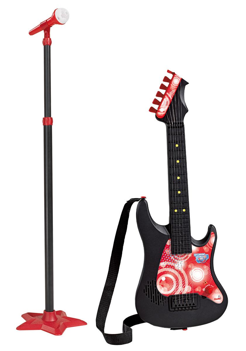 Simba Гитара с микрофоном музыкальные игрушки simba гитара на батарейках
