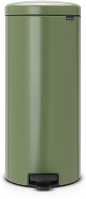 Бак мусорный Brabantia NewIcon, с педалью, цвет: зеленый мох, 30 л. 114304114304Этот высокий вместительный бак на 30 литров с педалью - превосходное решение для большой семьи. Бесшумный - плавное закрывание крышки и необыкновенно мягкий ход педали. Не пропускает запах - плотно прилегающая крышка. Устойчивый - специальное устройство, предотвращающее опрокидывание бака. Не повреждает пол - нескользящее основание. Удобная очистка - съемное внутреннее пластиковое ведро. Бак удобно перемещать - специальная ручка в блоке крепления крышки. Всегда опрятный вид - в комплекте идеально подходящие по размеру мешки для мусора PerfectFit (размер G). Изготовлен на 40% из переработанных материалов, подлежит вторичной переработке вместе с упаковкой на 98%. Сертификат соответствия концепции регенерации Cradle to Cradle.