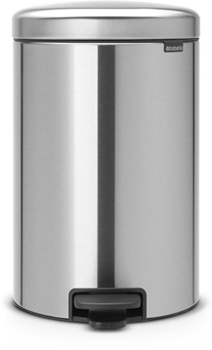 Бак мусорный Brabantia NewIcon, с педалью, цвет: стальной матовый, 20 л. 114021114021Этот 20-литровый бак с педалью – отличное решение для кухни или гостиной: большое загрузочное отверстие позволяет аккуратно собирать мусор, не просыпая на пол. Бесшумный - плавное закрывание крышки и необыкновенно мягкий ход педали. Не пропускает запах - плотно прилегающая крышка. Устойчивый - специальное устройство, предотвращающее опрокидывание бака. Не повреждает пол - нескользящее основание. Удобная очистка - съемное внутреннее пластиковое ведро. Бак удобно перемещать - специальная ручка в блоке крепления крышки. Всегда опрятный вид - в комплекте идеально подходящие по размеру мешки для мусора PerfectFit (размер D). Изготовлен на 40% из переработанных материалов, подлежит вторичной переработке вместе с упаковкой на 98%. Сертификат соответствия концепции регенерации Cradle to Cradle.