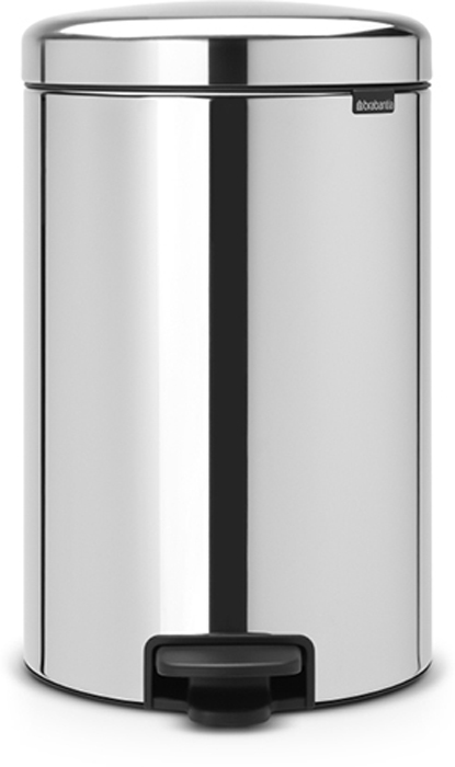 Бак мусорный Brabantia NewIcon, с педалью, цвет: стальной полированый, 20 л. 113987113987Этот 20-литровый бак с педалью – отличное решение для кухни или гостиной: большое загрузочное отверстие позволяет аккуратно собирать мусор, не просыпая на пол. Бесшумный - плавное закрывание крышки и необыкновенно мягкий ход педали. Не пропускает запах - плотно прилегающая крышка. Устойчивый - специальное устройство, предотвращающее опрокидывание бака. Не повреждает пол - нескользящее основание. Удобная очистка - съемное внутреннее пластиковое ведро. Бак удобно перемещать - специальная ручка в блоке крепления крышки. Всегда опрятный вид - в комплекте идеально подходящие по размеру мешки для мусора PerfectFit (размер D). Изготовлен на 40% из переработанных материалов, подлежит вторичной переработке вместе с упаковкой на 98%.