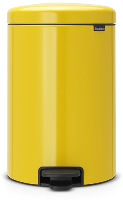 Бак мусорный Brabantia NewIcon, с педалью, цвет: желтая маргаритка, 20 л. 113963113963Этот 20-литровый бак с педалью – отличное решение для кухни или гостиной: большое загрузочное отверстие позволяет аккуратно собирать мусор, не просыпая на пол. Бесшумный - плавное закрывание крышки и необыкновенно мягкий ход педали. Не пропускает запах - плотно прилегающая крышка. Устойчивый - специальное устройство, предотвращающее опрокидывание бака. Не повреждает пол - нескользящее основание. Удобная очистка - съемное внутреннее пластиковое ведро. Бак удобно перемещать - специальная ручка в блоке крепления крышки. Всегда опрятный вид - в комплекте идеально подходящие по размеру мешки для мусора PerfectFit (размер D). Изготовлен на 40% из переработанных материалов, подлежит вторичной переработке вместе с упаковкой на 98%. Сертификат соответствия концепции регенерации Cradle to Cradle.