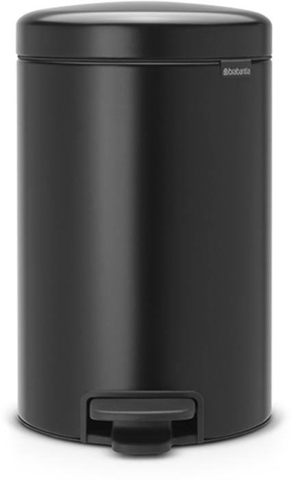 Бак мусорный Brabantia NewIcon, с педалью, цвет: черный, 12 л. 113741466323Этот 12-литровый бак с педалью достаточно вместителен и при этом достаточно компактен для размещения под рабочим столом – отличное решение для кухни или гостиной. Бесшумный - плавное закрывание крышки и необыкновенно мягкий ход педали.Не пропускает запах - плотно прилегающая крышка.Устойчивый - специальное устройство, предотвращающее опрокидывание бака.Не повреждает пол - нескользящее основание.Удобная очистка - съемное внутреннее пластиковое ведро.Бак удобно перемещать - специальная ручка в блоке крепления крышки.Всегда опрятный вид - в комплекте идеально подходящие по размеру мешки для мусора PerfectFit (размер C).Изготовлен на 40% из переработанных материалов, подлежит вторичной переработке вместе с упаковкой на 98%.Сертификат соответствия концепции регенерации Cradle to Cradle.
