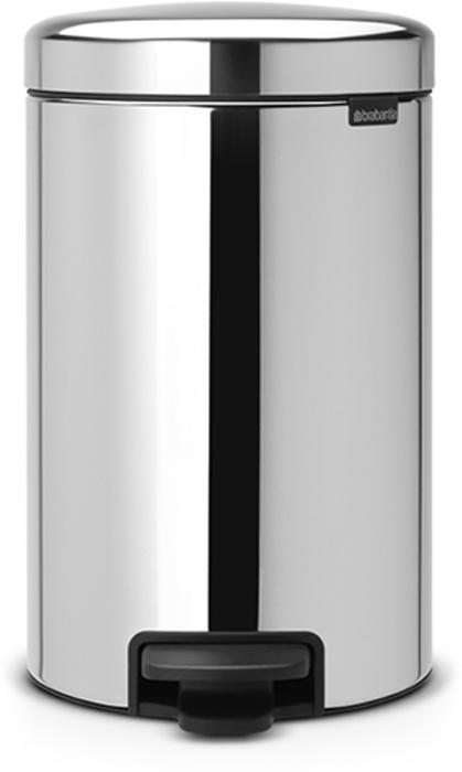 Бак мусорный Brabantia NewIcon, с педалью, цвет: стальной полированный, 12 л. 1135815697Этот 12-литровый бак с педалью достаточно вместителен и при этом достаточно компактен для размещения под рабочим столом – отличное решение для кухни или гостиной. Бесшумный - плавное закрывание крышки и необыкновенно мягкий ход педали.Не пропускает запах - плотно прилегающая крышка.Устойчивый - специальное устройство, предотвращающее опрокидывание бака.Не повреждает пол - нескользящее основание.Удобная очистка - съемное внутреннее пластиковое ведро.Бак удобно перемещать - специальная ручка в блоке крепления крышки.Всегда опрятный вид - в комплекте идеально подходящие по размеру мешки для мусора PerfectFit (размер C).Изготовлен на 40% из переработанных материалов, подлежит вторичной переработке вместе с упаковкой на 98%.Сертификат соответствия концепции регенерации Cradle to Cradle.