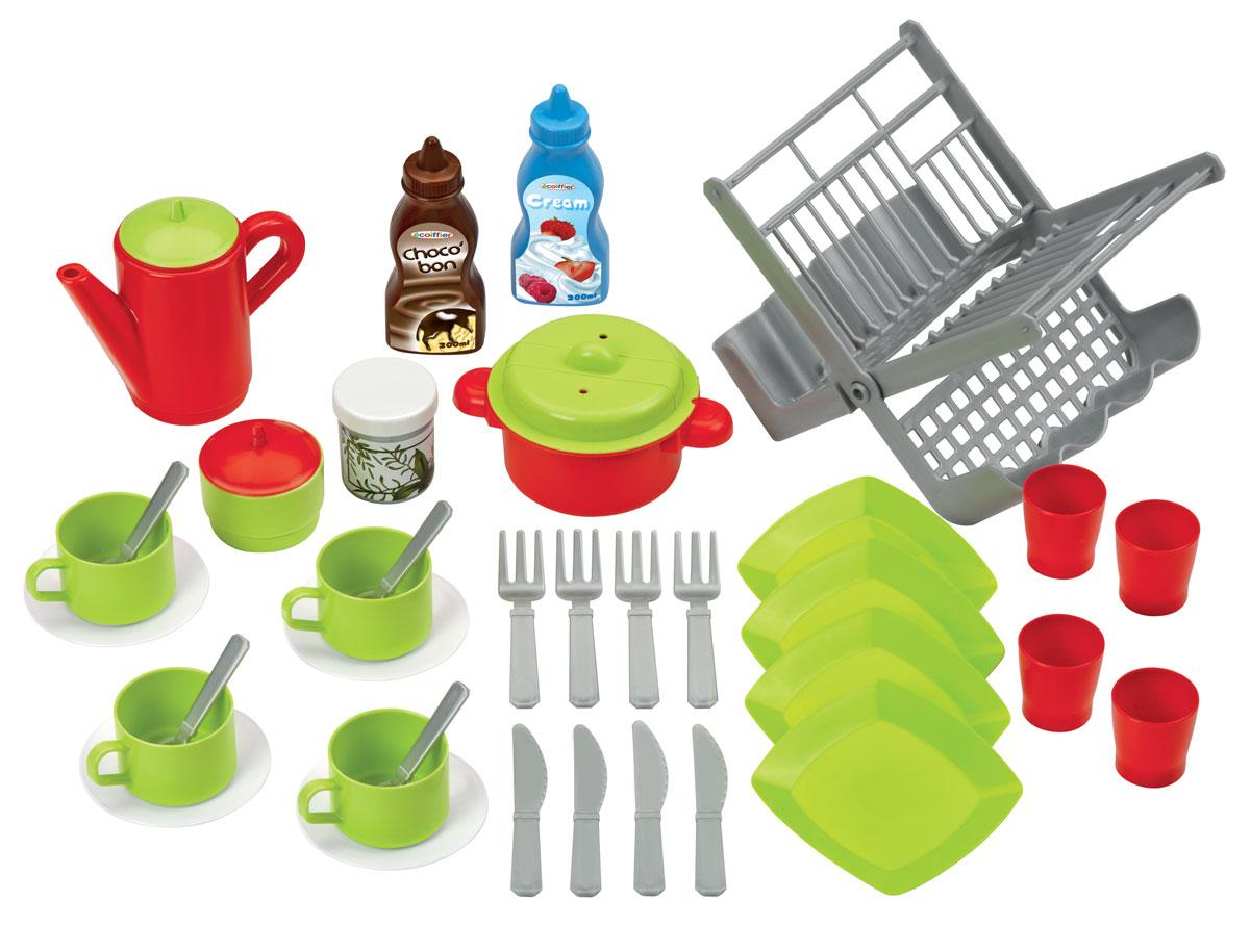 Ecoiffier Игрушечный набор Сушилка для посуды écoiffier тележка для уборки с пылесосом ecoiffier